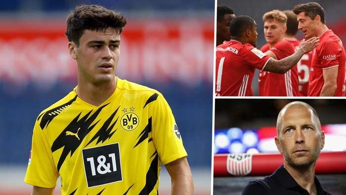 Gio Reyna Robert Lewandowski Dortmund Berhalter Bayern Munich USMNT