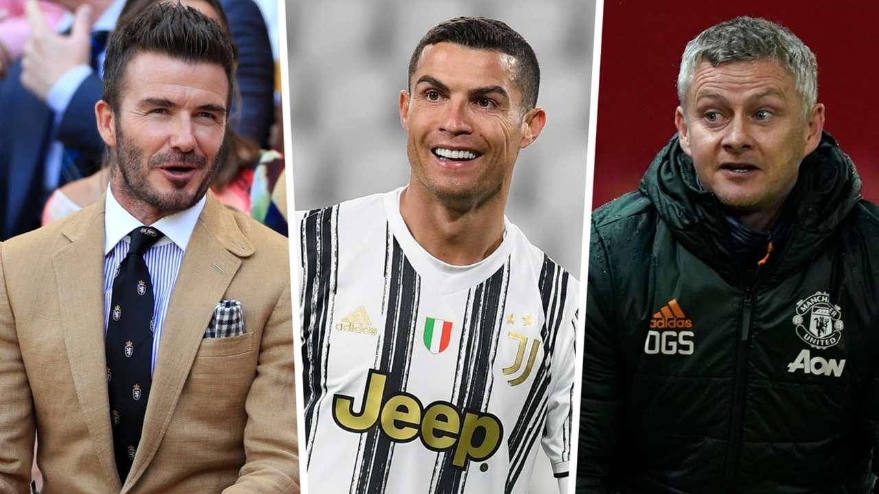 Cristiano Ronaldo David Beckham Ole Gunnar Solskjaer GFX