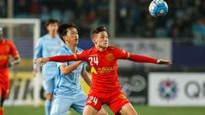 Jordan O'Doherty Jiangsu Suning v Adelaide United AFC Champions League 01032017