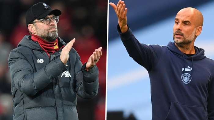 Jurgen Klopp Pep Guardiola Liverpool Manchester City 2019-20 GFX