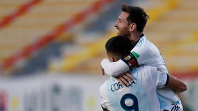 Joaquín Correa Lionel Messi Bolivia Argentina Eliminatorias Sudamericanas