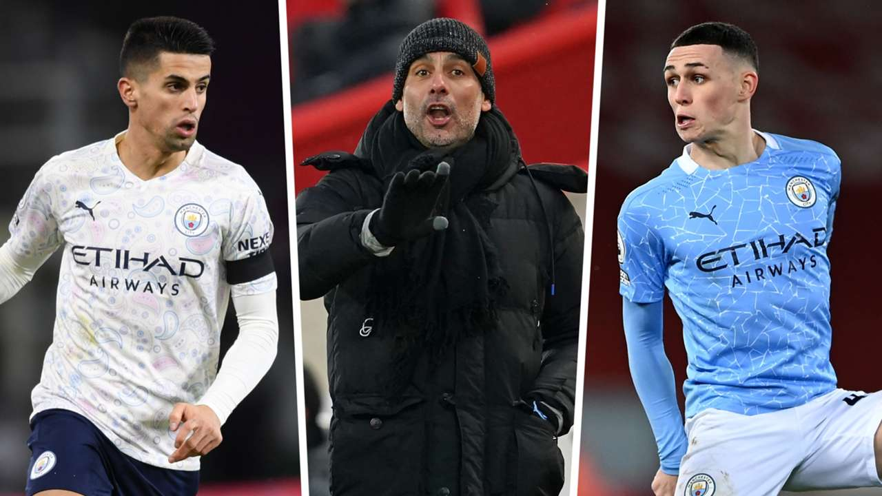 Joao Cancelo Phil Foden Pep Guardiola Manchester City GFX