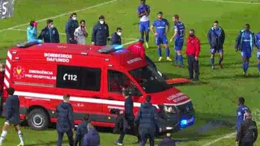 VIDEO: El escalofriante choque que sacó a Nanu en ambulancia del Belenenses - Porto | Goal.com