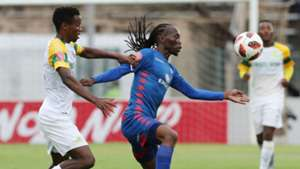 Themba Zwane and Reneilwe Letsholonyane - SuperSport United v Sundowns