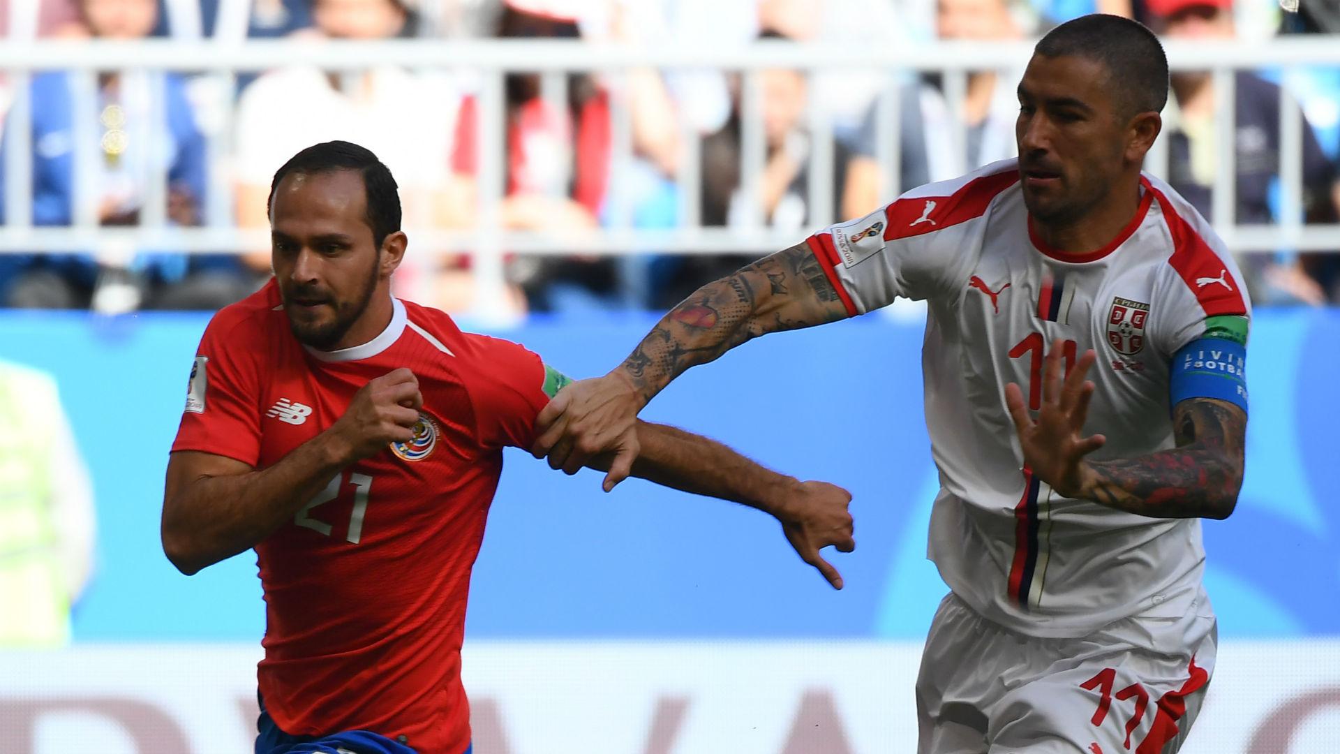 Marco Urena Costa Rica Aleksandar Kolarov Serbia