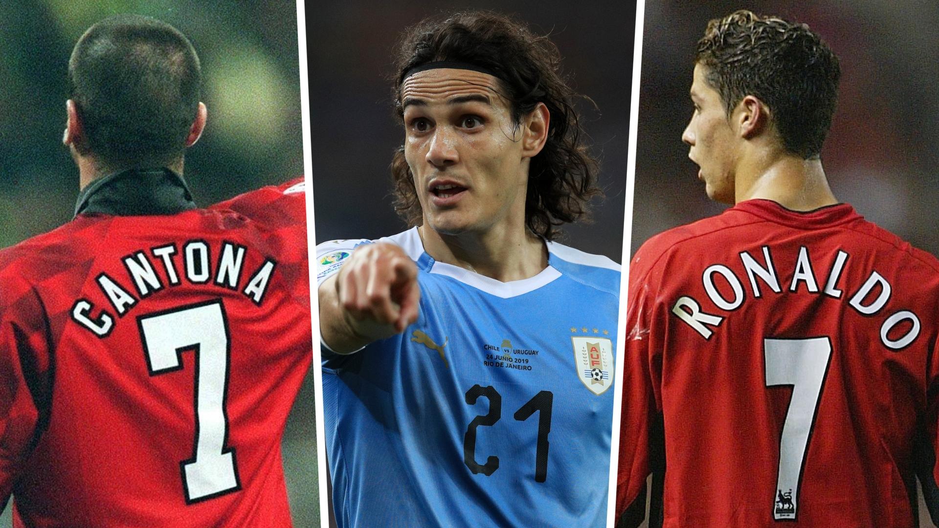 Cavani embraces pressure of No.7 shirt at Man Utd as he follows Cantona, Beckham & Ronaldo
