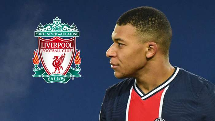 Kylian Mbappe, PSG, Liverpool badge