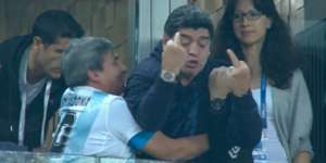 Maradona celebración Nigeria