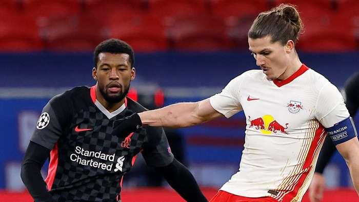 Georginio Wijnaldum Liverpool RB Leipzig 2020-21