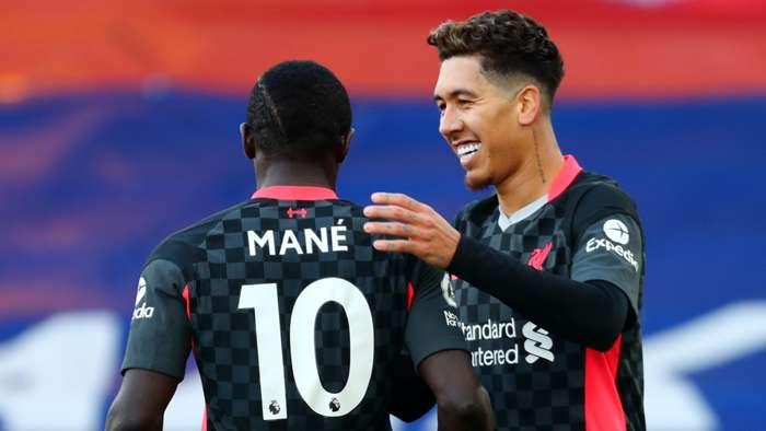 Sadio Mane Roberto Firmino Liverpool 2020-21