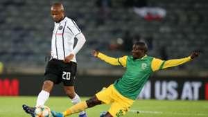 Xola Mlambo, Orlando Pirates & Michael Gumede, Golden Arrows, August 2019