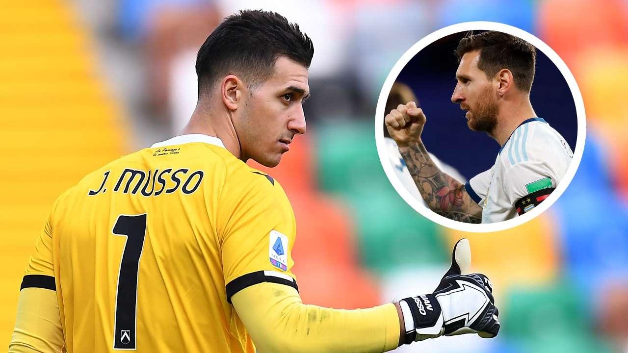 Juan Musso Lionel Messi Udinese Argentina GFX