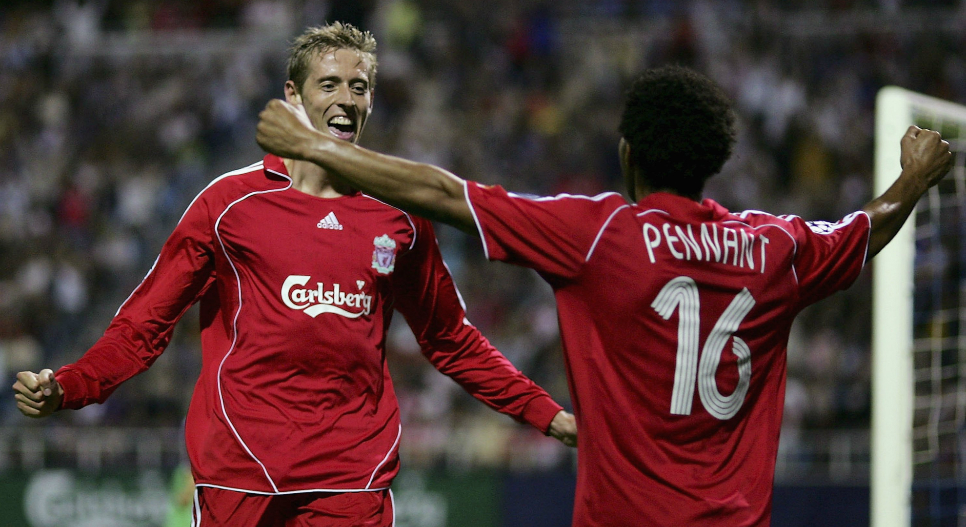 Peter Crouch Jermaine Pennant Liverpool