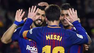 Lionel Messi celebrates, Barcelona