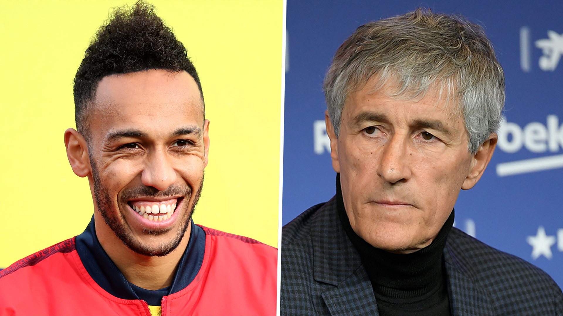 Setien confirms Barca are looking for a striker amid Aubameyang links