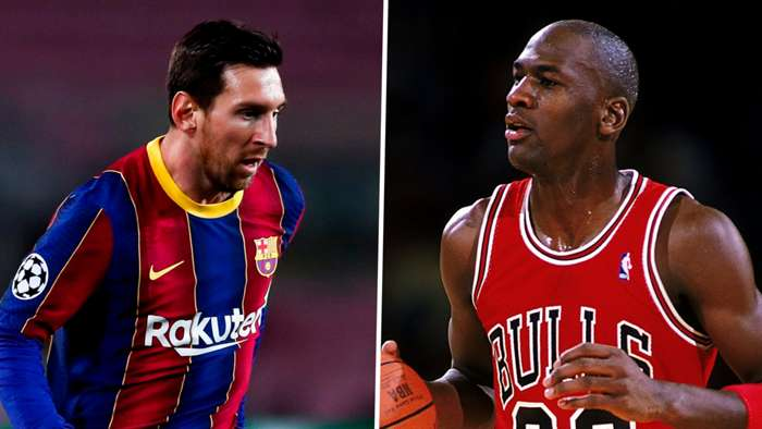 Lionel Messi, Michael Jordan split