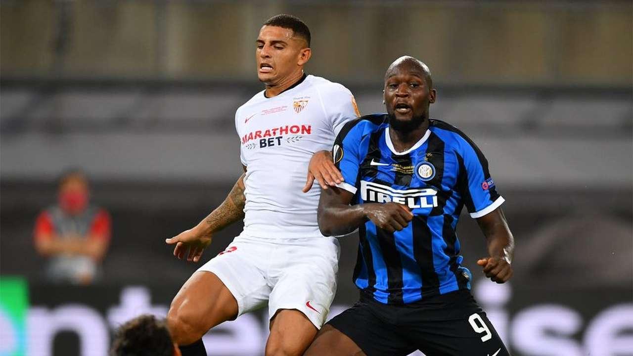 Diego Carlos Romelu Lukaku Sevilla Inter Milan Europa League 21082020