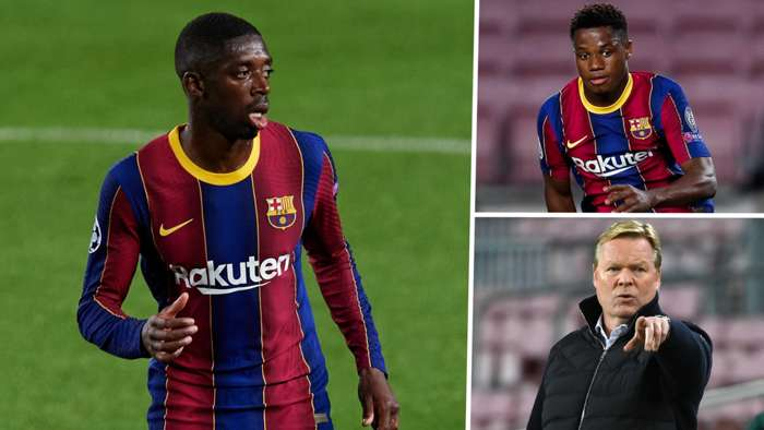 Ousmane Dembele Ansu Fati Ronald Koeman Barcelona 2020-21 GFX
