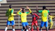 Motjeka Madisha Percy Tau Thapelo Morena - Sundowns v Free State Stars