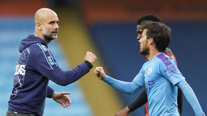 David Silva Pep Guardiola Manchester City 2020