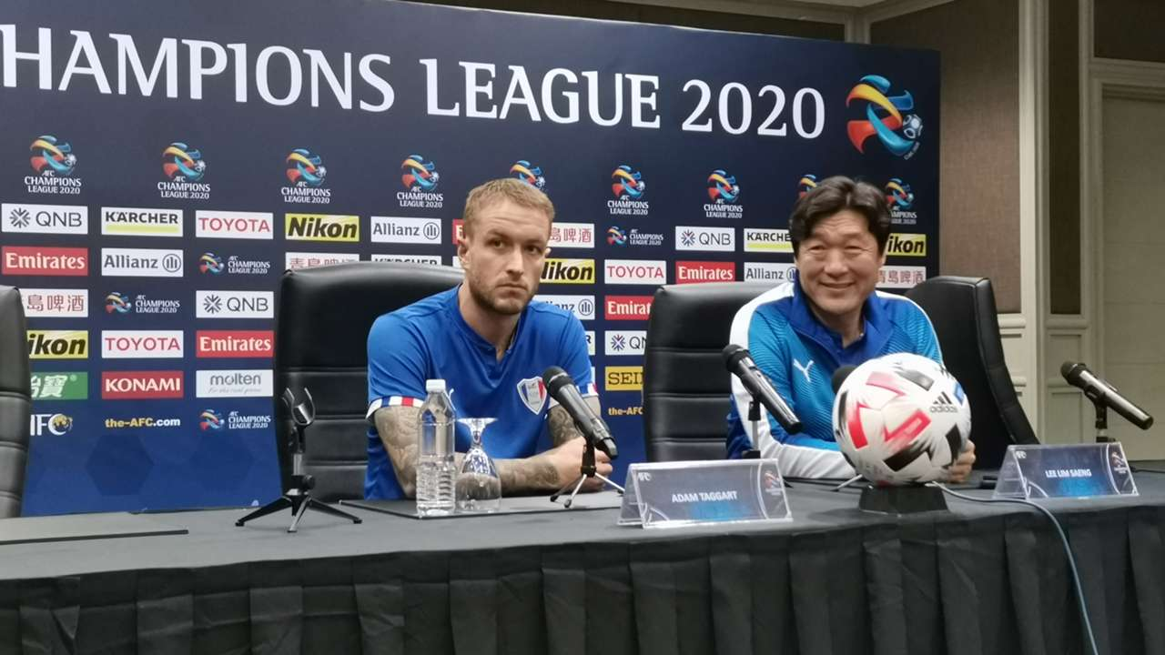 Adam Taggart, Lee Lim Saeng, Johor Darul Ta'zim v Suwon Bluewings, AFC Champions League, 2 Mar 2020