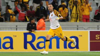 Samir Nurkovic celebrates a goal for Kaizer Chiefs - November 27