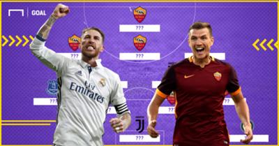 Roma XI vs Real Madrid Champions League 2016