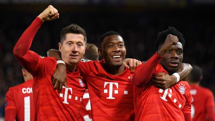 Robert Lewandowski David Alaba Alphonso Davies Bayern Munich Chelsea 2019-20