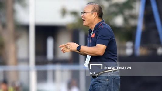 HLV Park Hang-seo phàn nàn về việc rò rỉ thông tin đội hình U22 Việt Nam   SEA Games 30   Goal.com