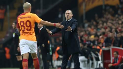 Fatih Terim Sofiane Feghouli Galatasaray Goztepe 12242017