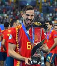 Fabián Ruiz comemorando título pela Espanha