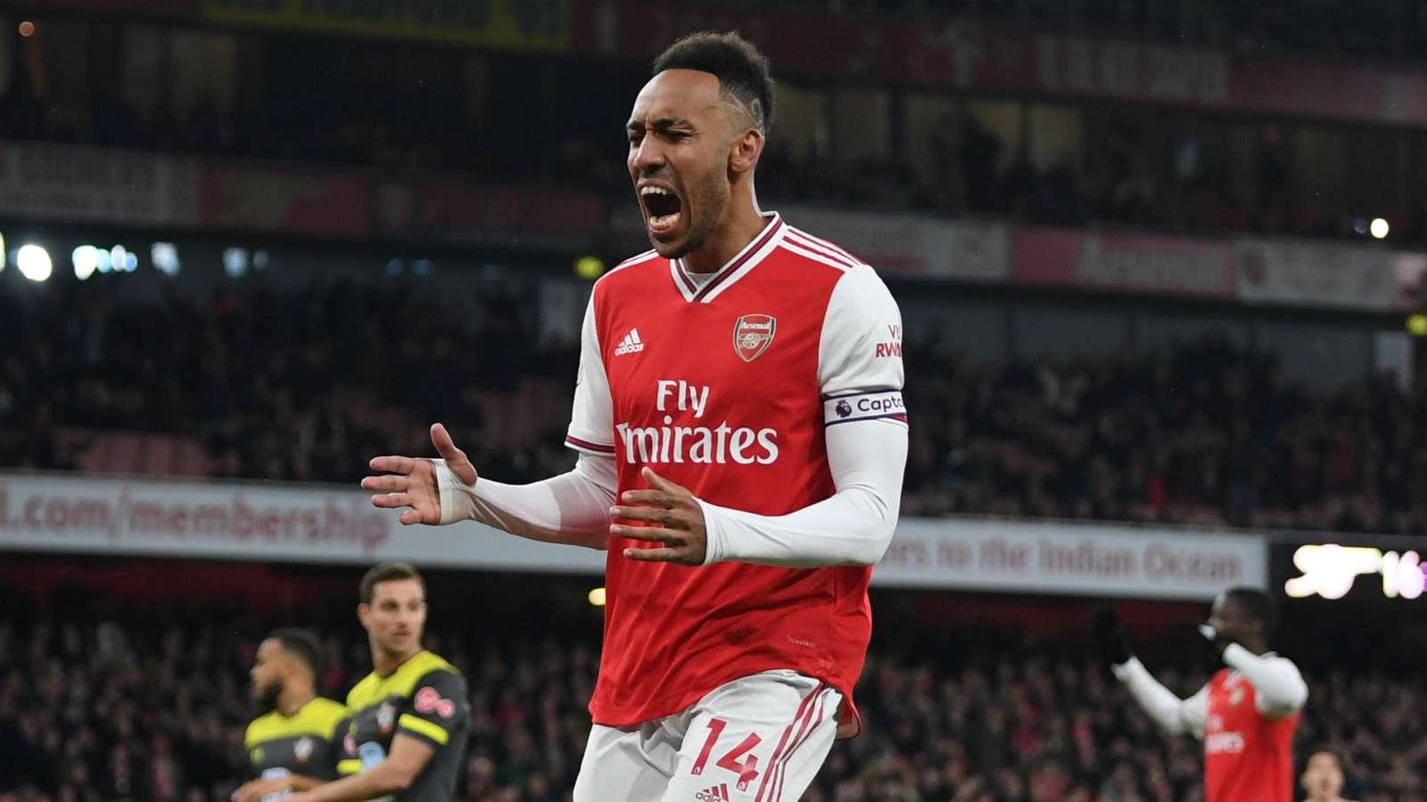 Pierre-Emerick Aubameyang Arsenal Southampton 2019-20