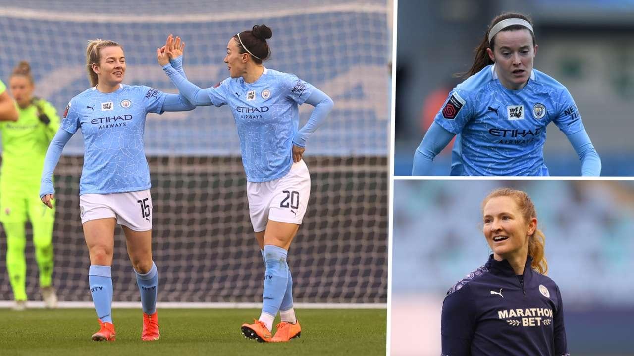 Manchester City Women split composite