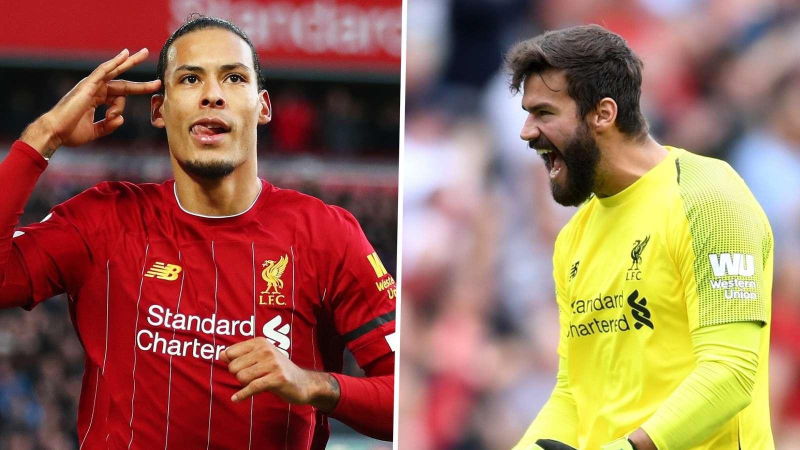 Van Dijk/Alisson split Liverpool 2019-20