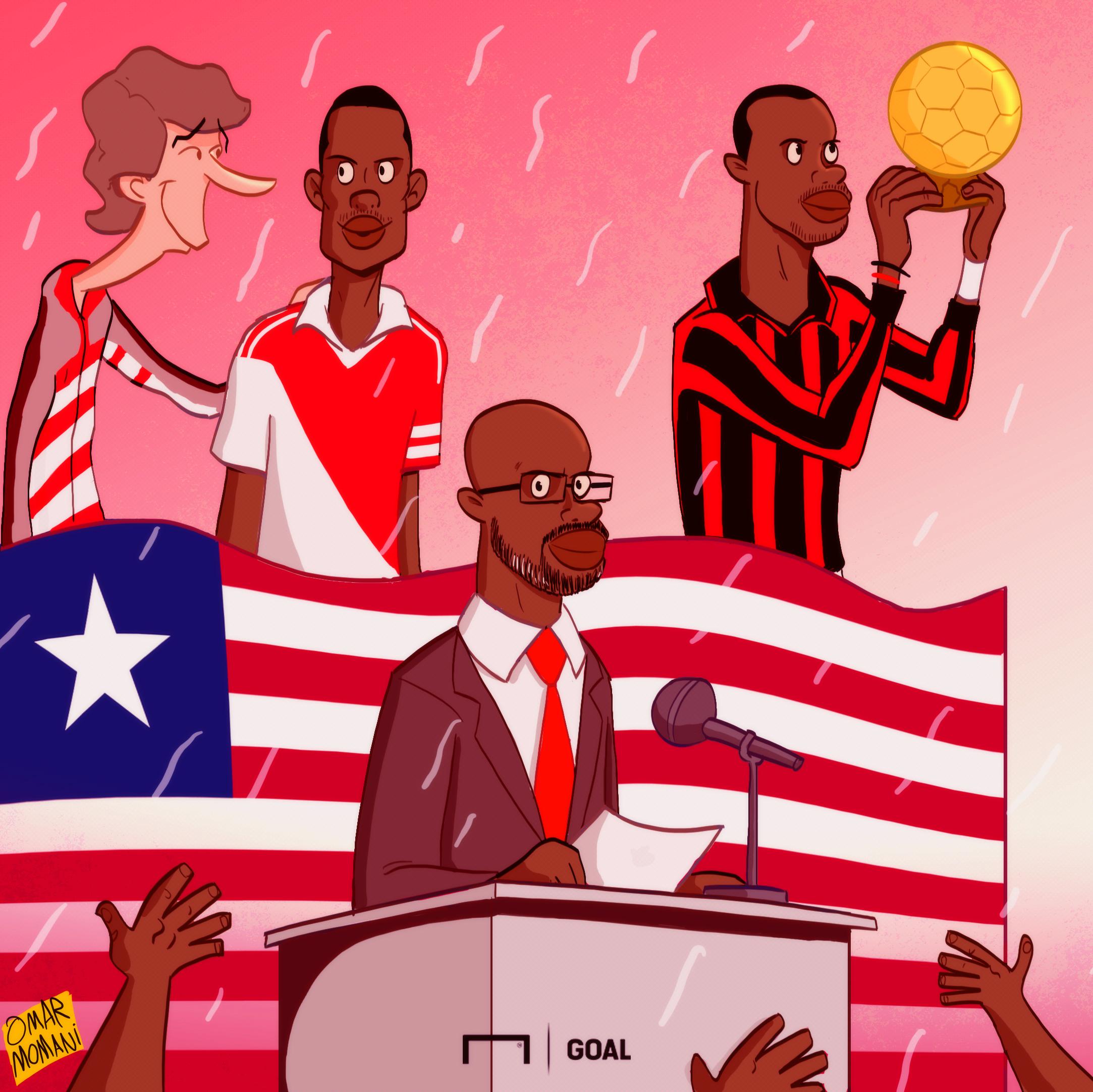 George Weah Cartoon