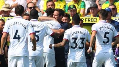 Norwich vs Chelsea, Tammy Abraham's goal celebration