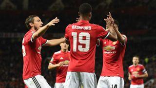 Manchester United celebrate
