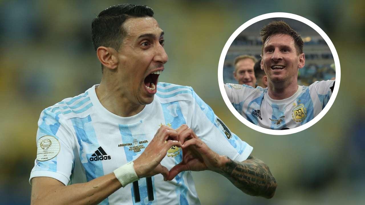 Angel Di Maria Lionel Messi Argentina Copa America GFX