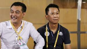 President Nguyen Quoc Hoi - Coach Van Sy Son Ha Noi FC vs HAGL Round 16 V.League 2019