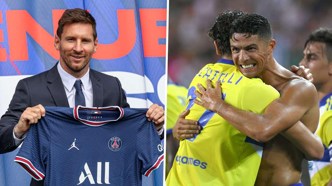 Lionel Messi Cristiano Ronaldo PSG Juventus GFX
