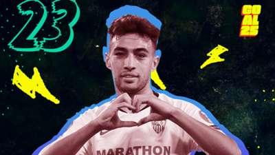 Goal 25 2020 23 Munir El-Haddadi Sevilla Morocco