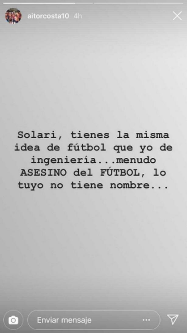 Aitor Costa Instagram story, Isco