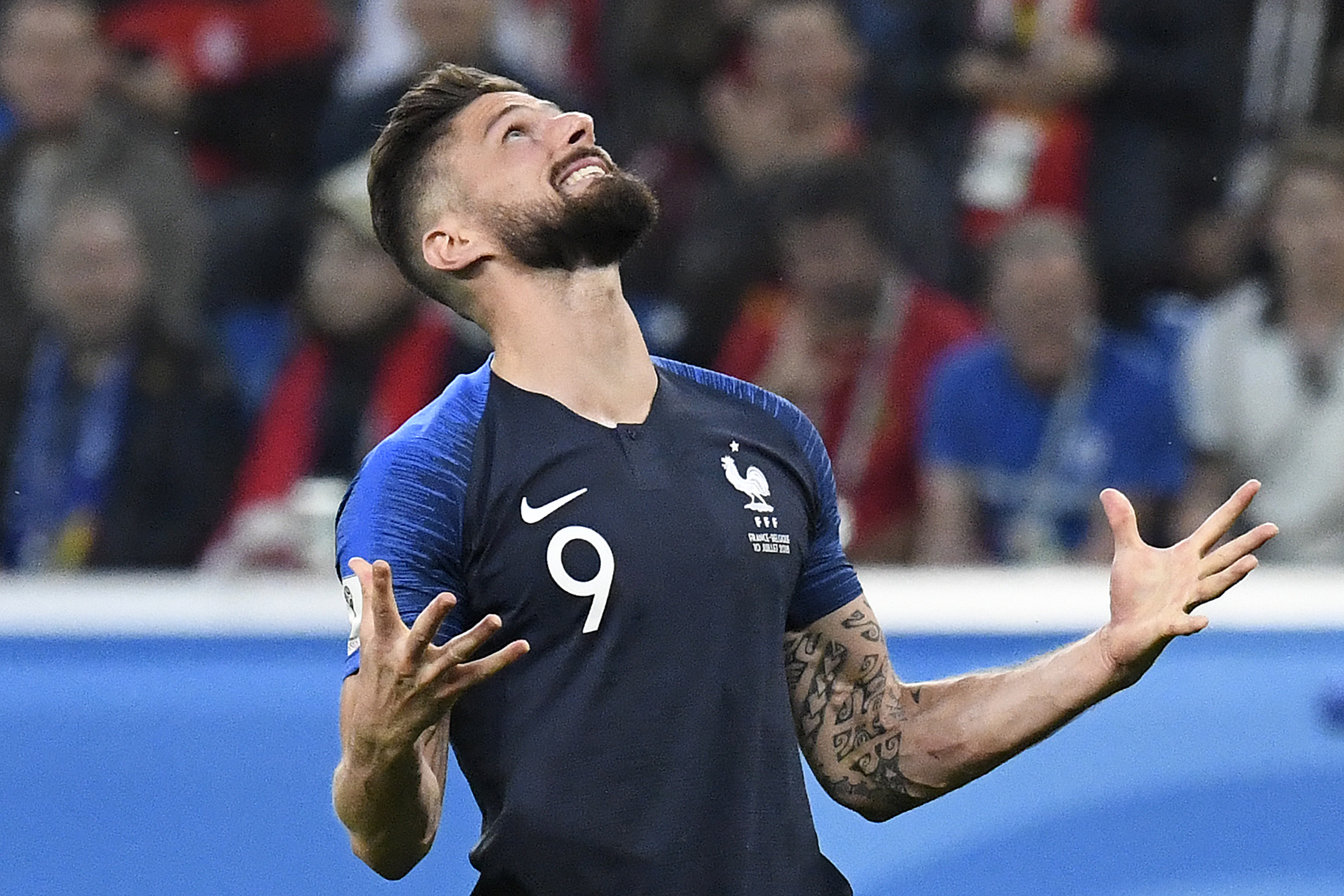 World Cup 2018 Misfiring Olivier Giroud Making Unwanted World Cup History For France Goal Com