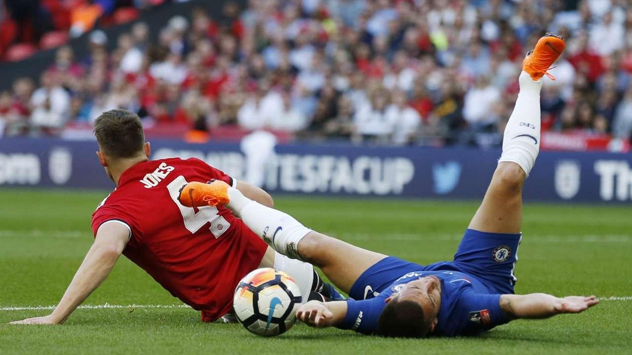Phil Jones Eden Hazard Manchester United Chelsea 19052018