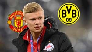 GFX Erling Haaland Man Utd Dortmund