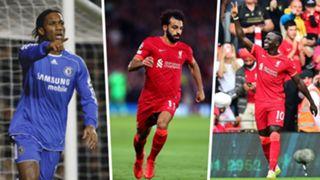Didier Drogba, Mohamed Salah, Sadio Mane