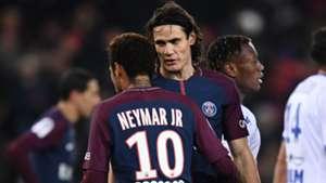 Neymar, Edinson Cavani, PSG vs Troyes 17/17