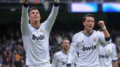 Cristiano Ronaldo Mesut Ozil Real Madrid