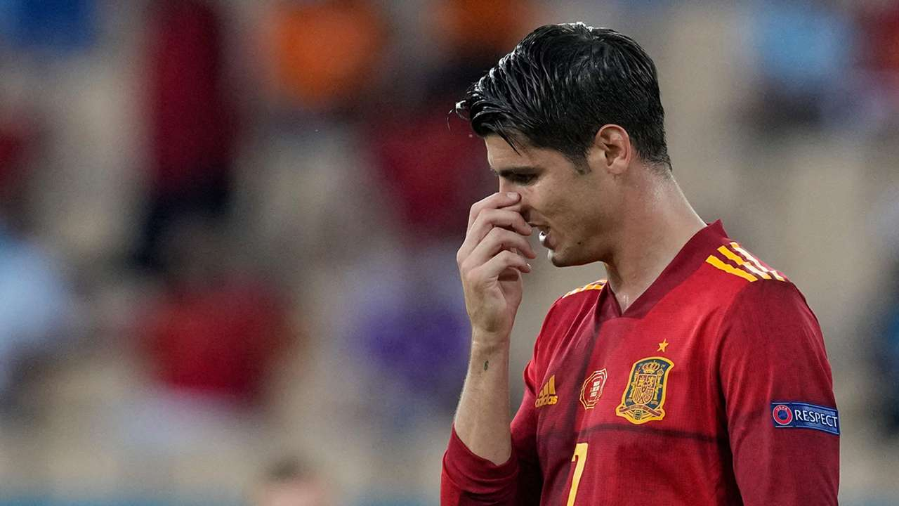 Alvaro Morata Spain Sweden Euro 2020