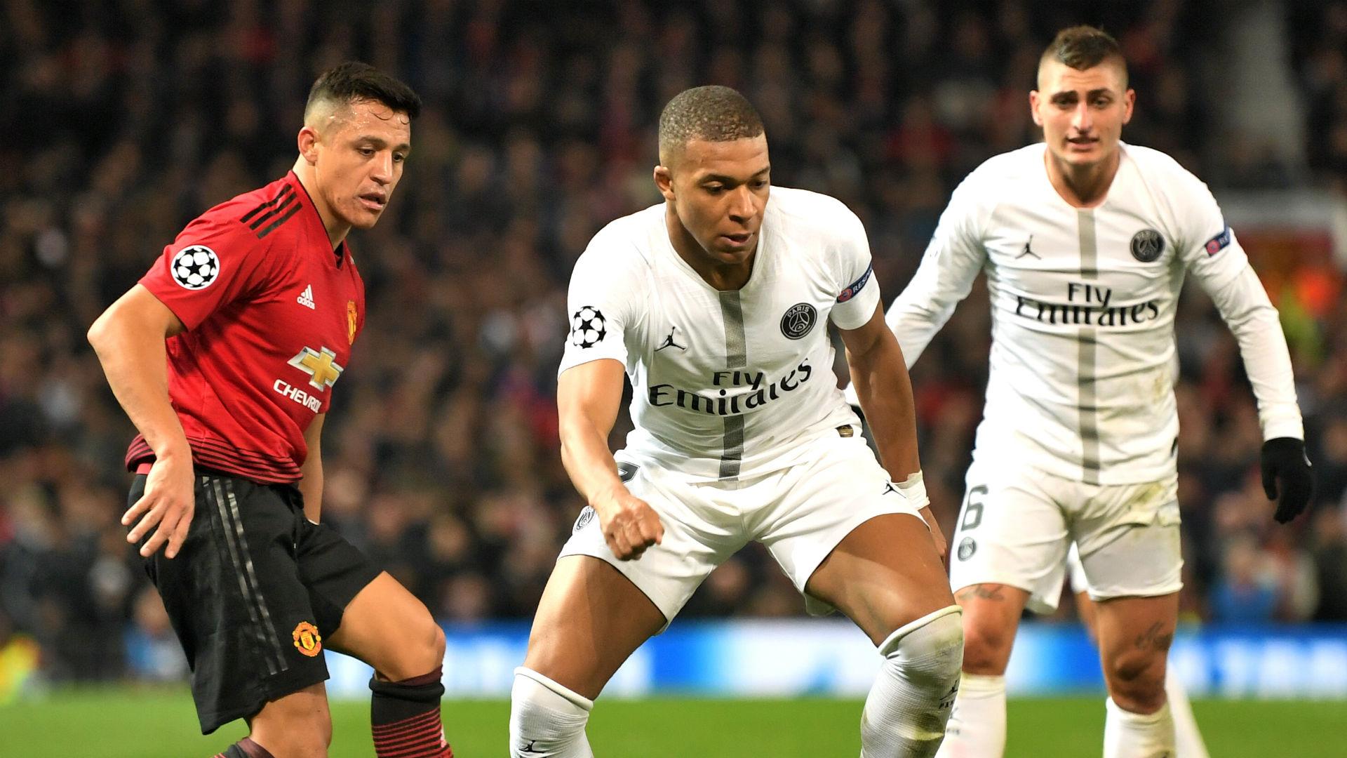 Alexis Sanchez Kylian Mbappe Marco Verratti Manchester United PSG 120219